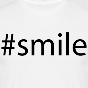 #smile T-shirts - Herre-T-shirt