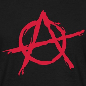 Anarchy symbol chaos rebel revolution punk fighter T-shirts - T-shirt herr