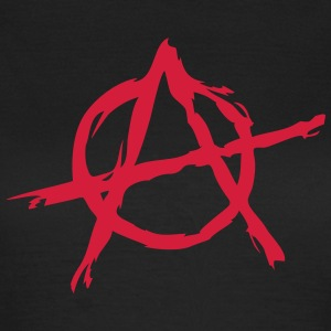 Anarchy symbol chaos rebel revolution punk fighter T-shirts - Dame-T-shirt