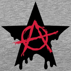 Anarchie Symbol Stern Chaos rebel Revolution Punk - Männer Premium T-Shirt