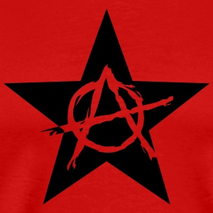 Star Anarchy chaos rebel revolution protest black  T-Shirts - Men's Premium T-Shirt