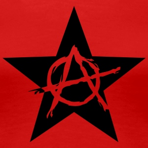Star Anarchy chaos rebel revolution protest black  Camisetas - Camiseta premium mujer