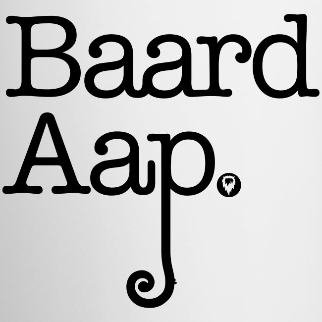 Baard Aap - All White Coffee Mug