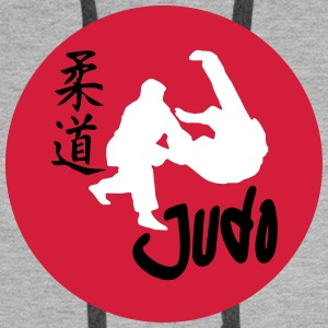 Judo sunset Sweat-shirts - Sweat-shirt à capuche Premium pour hommes