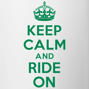 Keep calm and ride on horse Bouteilles et tasses - Tasse bicolore