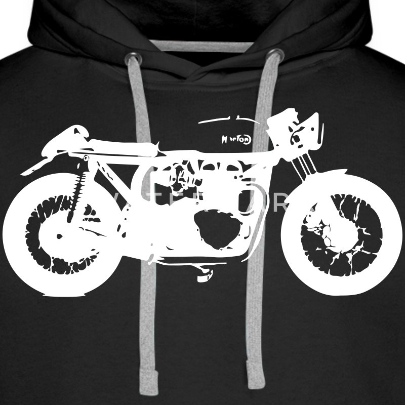 Cafe Racer (Norton) by CafeRacersUnited.com Sweaters - Mannen Premium hoodie