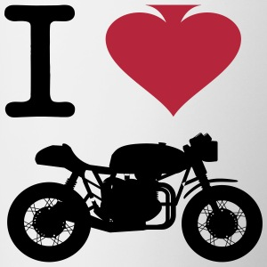 I Love Cafe Racers by CafeRacersUnited.com Flessen & bekers - Mok tweekleurig