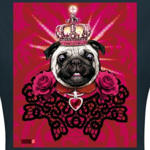 Mops - Pug The King - Krone - rote Rosen Hund Frau - Frauen T-Shirt