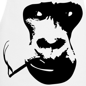 smoking gorilla  Aprons - Cooking Apron