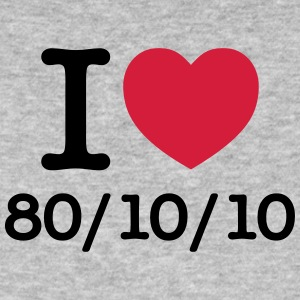 I Love 80/10/10 T-shirts - Mannen Bio-T-shirt
