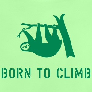 climbing boulder mountain sloth born to climb  Shirts - Baby T-Shirt