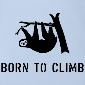 climbing boulder mountain sloth born to climb  Shirts - Organic Short-sleeved Baby Bodysuit