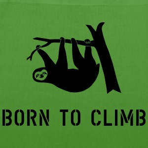climbing boulder mountain sloth born to climb  Bags & backpacks - EarthPositive Tote Bag