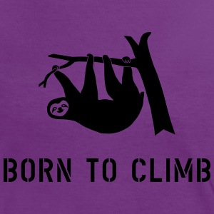 climbing boulder mountain sloth born to climb  T-Shirts - Women's Ringer T-Shirt