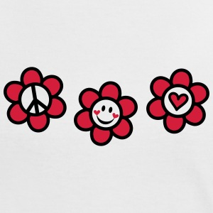 Peace Love Happiness Free Summer Festival Flower  T-Shirts - Frauen Kontrast-T-Shirt