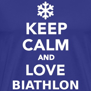 Keep calm and love Biathlon T-Shirts - Männer Premium T-Shirt