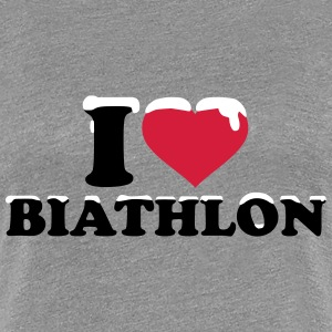 I love Biathlon T-Shirts - Frauen Premium T-Shirt