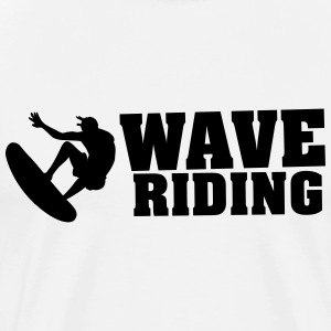 Wave riding Tee shirts - T-shirt Premium Homme