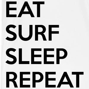 Eat surf sleep repeat Koszulki - Koszulka męska Premium