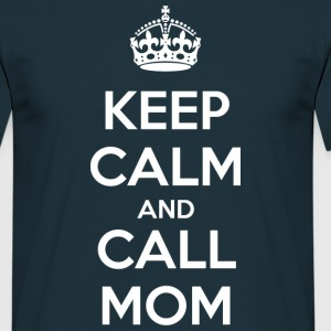 Keep calm and call mom (dark) T-shirts - T-shirt herr