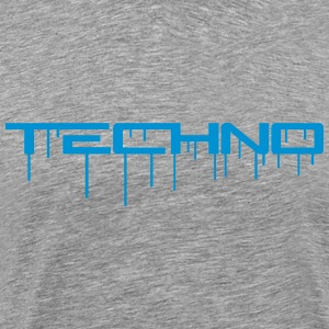 Techno Graffiti T-skjorter - Premium T-skjorte for menn