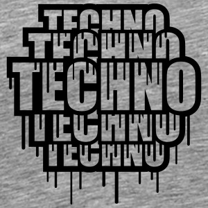 Cool Techno Stamp T-skjorter - Premium T-skjorte for menn