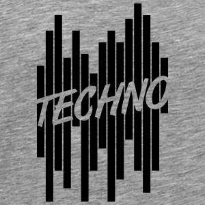 Techno Stripes Logo T-skjorter - Premium T-skjorte for menn