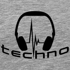 Techno Headphone Logo Camisetas - Camiseta premium hombre