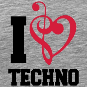 I Love Techno Music T-shirts - Mannen Premium T-shirt