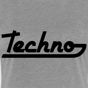 Techno Text T-shirts - Premium-T-shirt dam