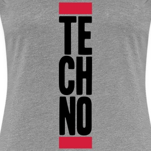 Techno Music T-skjorter - Premium T-skjorte for kvinner