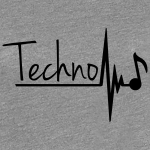 Techno Heartbeat Music Note T-Shirts - Women's Premium T-Shirt
