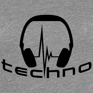 Techno Headphone Logo Tee shirts - T-shirt Premium Femme