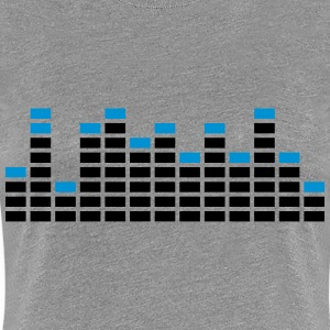 Techno Equalizer Logo Design T-Shirts - Women's Premium T-Shirt