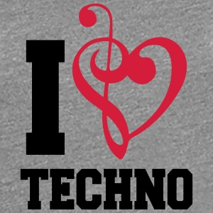 I Love Techno Music T-shirts - Premium-T-shirt dam