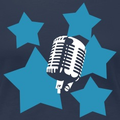 microphone + stars T-Shirts