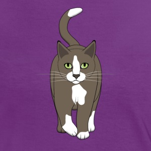 cat front E T-Shirts - Women's Ringer T-Shirt