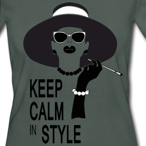 keep calm in style T-shirts - Organic damer