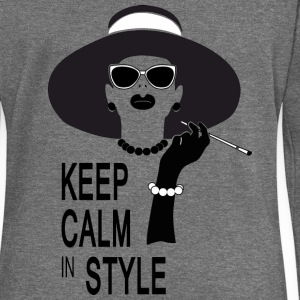 keep calm in style Sweat-shirts - Pull Femme col bateau de Bella
