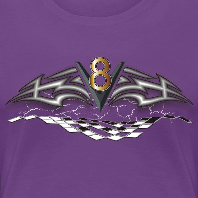 V8 Logo T-shirt für die Frau
