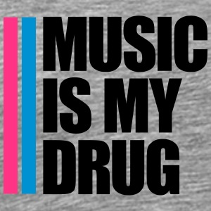 Music Is My Drug Logo Koszulki - Koszulka męska Premium