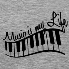 Music Is My Life Piano Keys T-Shirts