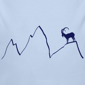ibex capricorn mountains alps climbing goat sheep  Hoodies - Longlseeve Baby Bodysuit
