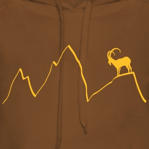 ibex capricorn mountains alps climbing goat sheep  Hoodies & Sweatshirts - Women's Premium Hoodie
