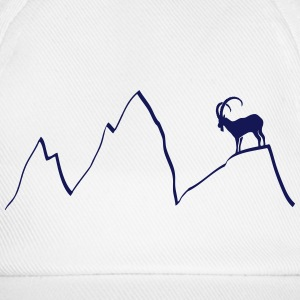 ibex capricorn mountains alps climbing goat sheep  Caps & Hats - Baseball Cap