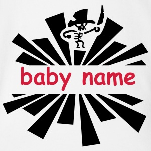 wild pirate with name Shirts - Organic Short-sleeved Baby Bodysuit