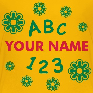 ABC 123 skola with name T-shirts - Premium-T-shirt barn