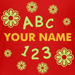 ABC 123 school with name Shirts - Kinderen Premium T-shirt