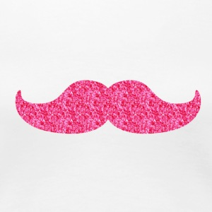 Glitzernder Moustache T-Shirts - Frauen Premium T-Shirt