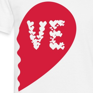 Valentine Heart Love Wedding Marriage half boy T-Shirts - Men's T-Shirt